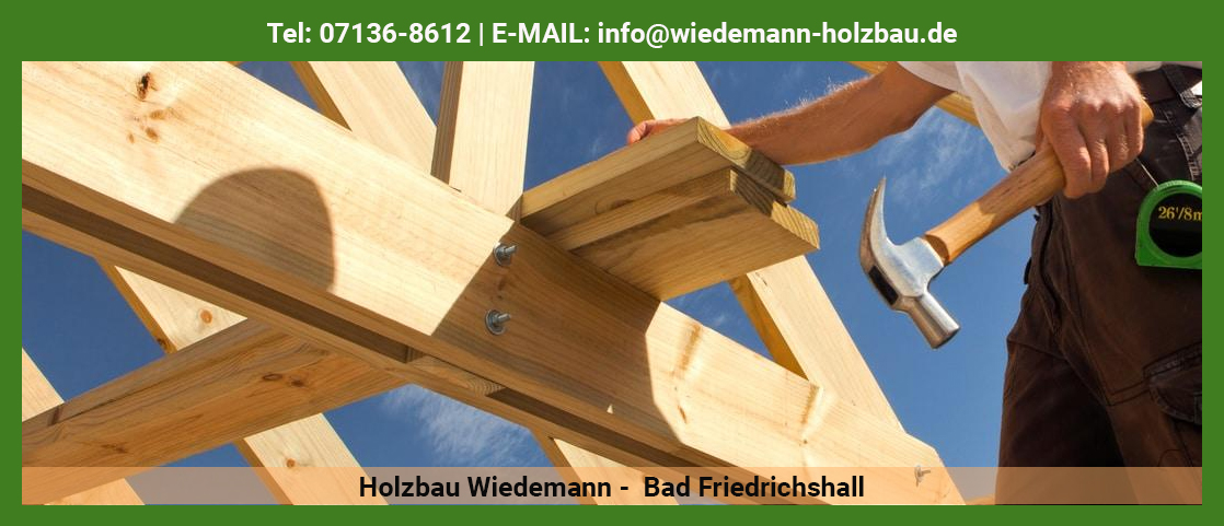 Dachdecker in der Nähe von Eberstadt - Holzbau Wiedemann: Carport, Zimmerarbeiten, Asbestsanierung