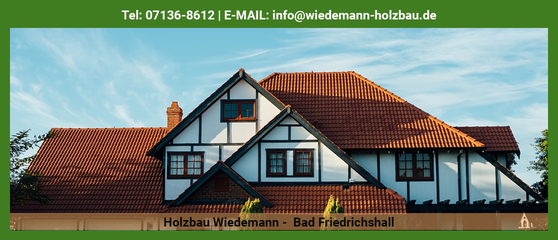 Dachdecker in der Nähe von Neudenau - Holzbau Wiedemann: Fassade, Zimmerarbeiten, Eternitsanierung